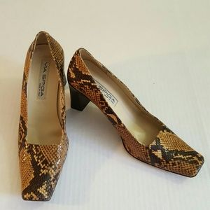 Via Spiga Made in Italy Python Snake Heels  10 M